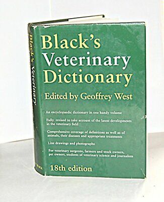 £4.99 • Buy Black's Veterinary Dictionary (Reference) Paperback Book The Cheap Fast Free
