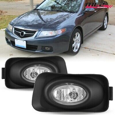 $33.95 • Buy For 2004-2005 Acura TSX OE Factory Fit Fog Light Bumper Kit Clear Lens