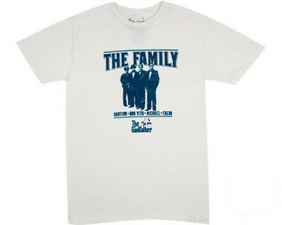 New Official Godfather Movie The Family White Retro Mens Tee T Shirt All Sizes • 6.95£
