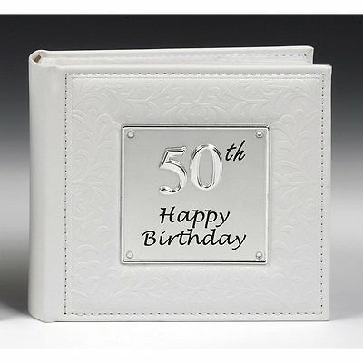 Gift 50th Happy Birthday Photo Picture Album NEW  Holds 80 Photos  • 14.95£