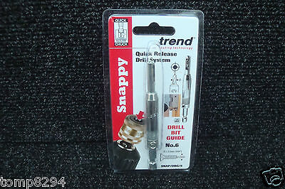 TREND SNAPPY HINGE FITTING DRILL BIT GUIDE No6 SNAP/DBG/5 • 10.45£