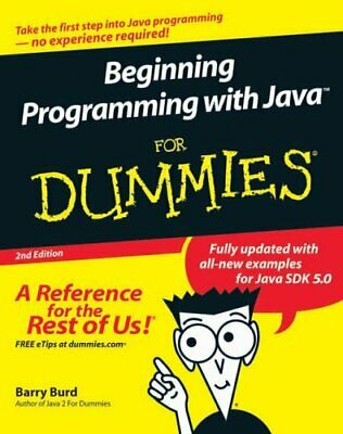 Beginning Programming With Java For Dummies By Burd, Barry Paperback Book The • 5.99£