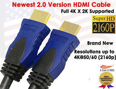 $ CDN5.68 • Buy 4K ULTRA HDMI 2.0 Version Cable 3FT- Supports 4k X2k, Ethernet,3D,Audio Return