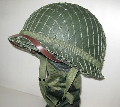 £42.58 • Buy M1 WWII US Army Green Helmet Replica With Net Canvas Chin Strap Collectable
