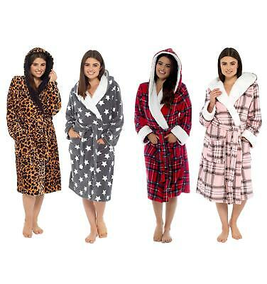 £19.95 • Buy Women's Super Soft Hooded Robe Dressing Gown Bathrobe Plush Robes Warm Gowns