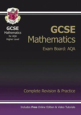 £5.49 • Buy GCSE Maths AQA Complete Revision & Practice (with Online Edition... By CGP Books