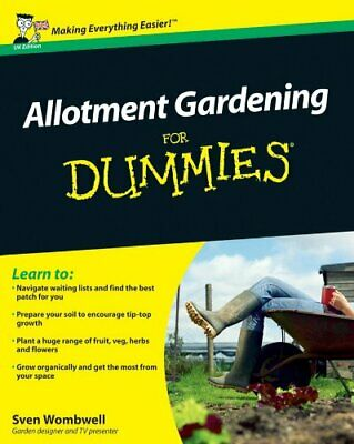 Allotment Gardening For Dummies By Wombwell, Sven Paperback Book The Cheap Fast • 13.99£