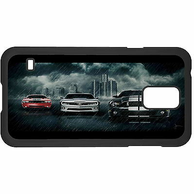 Three Car In Rainstorm Hard Case Cover For Samsung New • 6.49AU