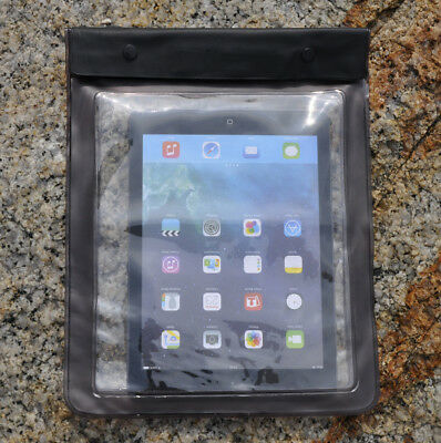 AU12.98 • Buy Waterproof Dry Pouch Bag Cover For Tablet Book Ipad Kindle Galaxy Tab Black