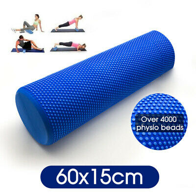 AU20.99 • Buy 60x15cm Physio EVA Foam Yoga Pilates Roller Gym Back Exercise Home Massage