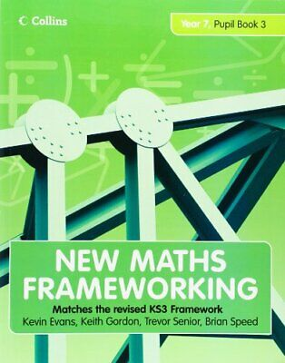 New Maths Frameworking - Year 7 Pupil Book 3 (Level... By Speed, Brian Paperback • 5.49£