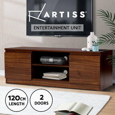 AU109.95 • Buy Artiss TV Cabinet Entertainment Unit Stand Side Storage Lowline Cupboard Walnut