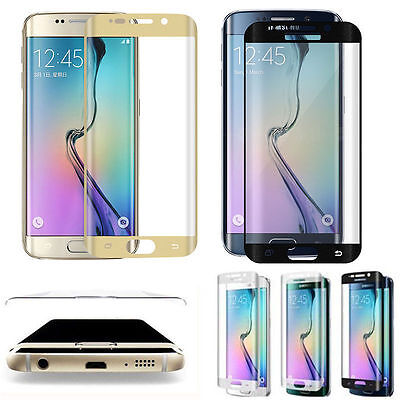 $ CDN2.63 • Buy Full Cover Curved Tempered Glass Screen Protector For Samsung Galaxy S6/S7 Lots
