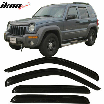 $35.78 • Buy Fits 02-07 Jeep Liberty Acrylic Window Visors 4Pc Set