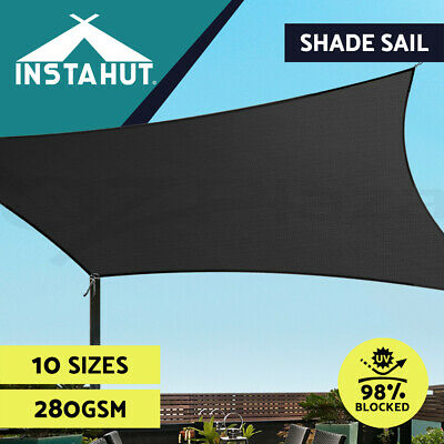 AU49.90 • Buy Instahut Sun Shade Sail Cloth Shadecloth Awning Canopy Rectangle Square 280gsm