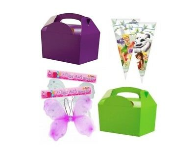 £5.49 • Buy Tinkerbell Tableware - / Fairy Wings / Cone Bags / Party Meal Boxes