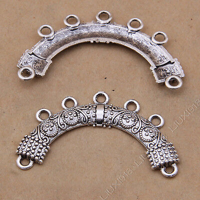 £2.85 • Buy 20x Necklace Charm Flower Connectors Findings Minority Jewellery Crafts /S904