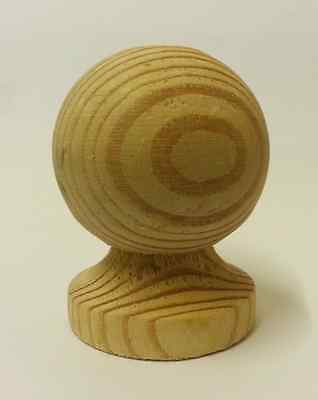 £5.54 • Buy Untreated Wooden Ball Finial For 3 Ins Posts