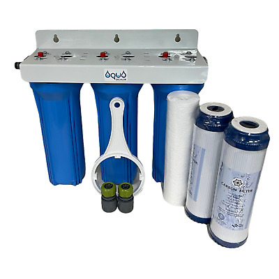 10  Water Filter Purifier 3 Stage  Dechlorinator Koi  Pond Fittings Inc & Spares • 48.80£