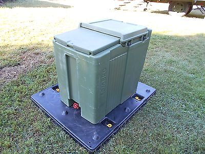 $395 • Buy Military Surplus  Cambro Ice Chest Box Cooler Kitchen Trailer Army Camping Green