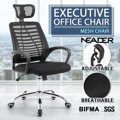 AU119.95 • Buy High Back Executive Office Computer Chair Breathable Mesh Cushions Support Seat