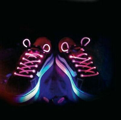 £2.97 • Buy Light Up LED Shoe Laces Party Disco Flashing Colour Glow - Pink