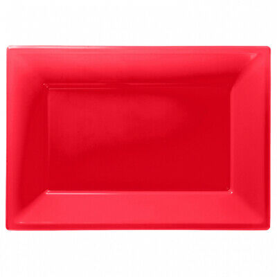 £4.49 • Buy Candy Buffet Apple Red Plastic Serving Platters X 3