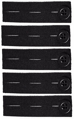 $6.99 • Buy Elastic Pants Waist Extender 5-Pack - Strong Adjustable Pant Button Extenders