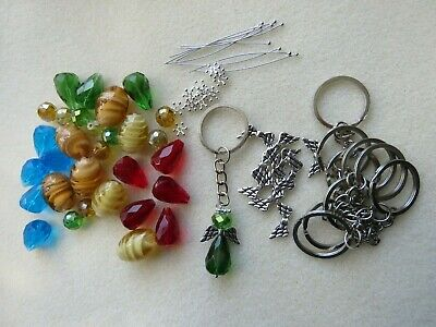 £3.99 • Buy Angel Key Ring Kit - Make Your Own Angel Charms 5 - 20 All In Crystal Glass