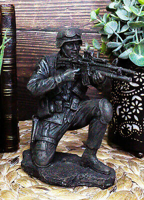 $33.99 • Buy Military Soldier Kneeling And Taking Aim Statue 5.5 Tall Patriotic Combat Marine