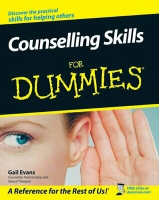 Counselling Skills For Dummies By Evans, Gail Paperback Book The Cheap Fast Free • 12.20£