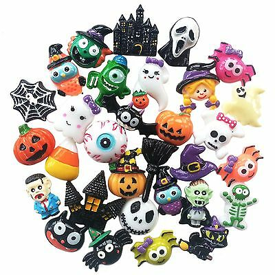 HALLOWEEN  Resin Flatback Cabochon Embellishments For Decoden Craft Card Making • 2.99£