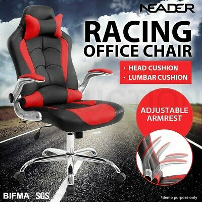 AU169.95 • Buy Executive Office Racing Chair High Back Gaming Computer Seat Removable Headrest