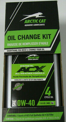 $ CDN63.37 • Buy Arctic Cat 0W-40 ACX Synthetic Oil Change Kit 550 650 700 H1 1000 H2 Prowler
