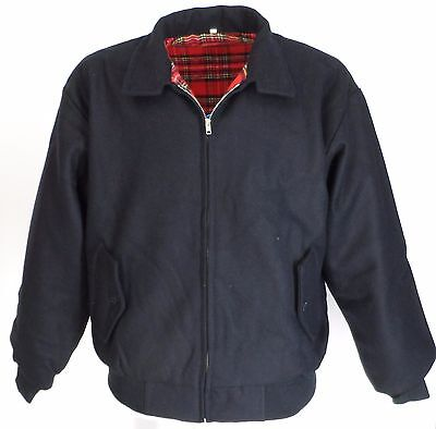 Heavy Duty Navy Wool Harrington Jacket`s • 36.99£