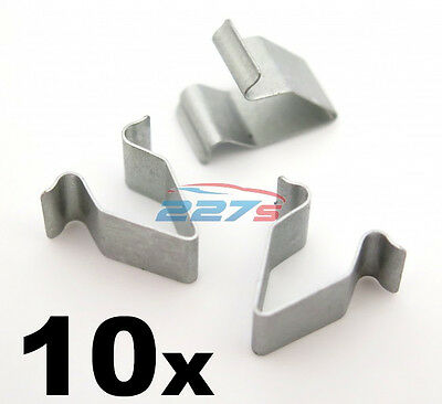 £3.09 • Buy 10x Metal Trim Panel Clips For VW, 16mm Length. Boot & Tailgate Interior Lining