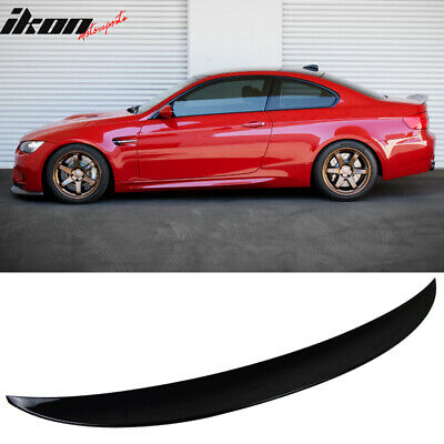 $80 • Buy Fits 07-13 BMW 3-Series E92 2Dr Painted # 668 Jet Black Rear Trunk Spoiler Wing