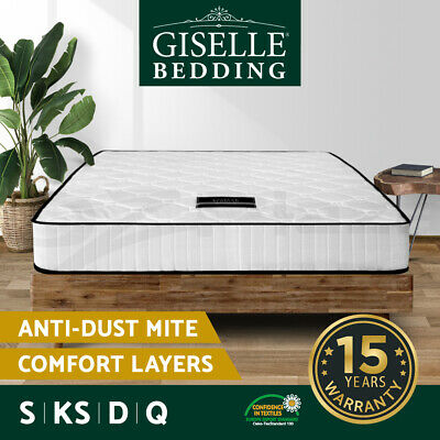 AU199 • Buy Giselle Mattress Queen Double King Single Bed Pocket Spring Foam Firm 21cm