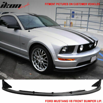$112.99 • Buy Fits 05-09 Ford Mustang V8 Type CV3 Front Bumper Lip Spoiler Under PU