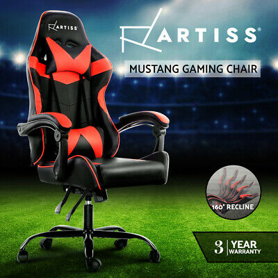 AU149.95 • Buy Artiss Gaming Office Chair Computer Chairs Seat Racing Recliner Racer Black Red