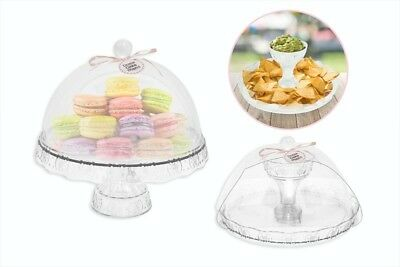 £10.99 • Buy Cake Stand Vintage Dome Cover Afternoon Tea Wedding Party Tableware
