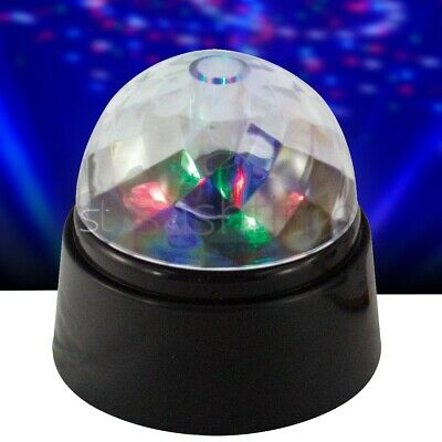 £5.95 • Buy Crystal Star Ball Flashing Colour Led Spinning Party Disco Light Battery-power