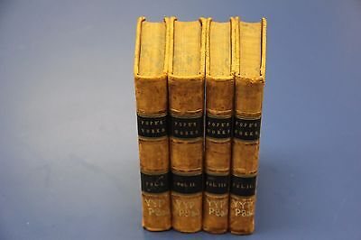 $295 • Buy THE WORKS OF ALEXANDER POPE. 4 Vol. London: A.J.Valpy 1835 Hardcover 1st Edition