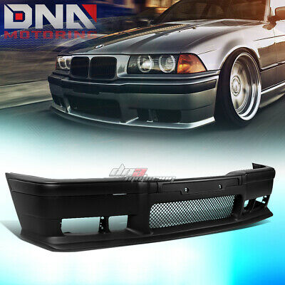 $123.88 • Buy For 92-98 Bmw E36 3series 1pc M3 Style Abs Front Bumper Cover Body Kit+grille