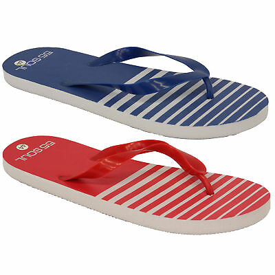 Mens Flip Flops 55 Soul Slippers Beach Striped Thong Holiday Casual Summer New • 3.98£