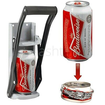 LARGE 16OZ BEER TIN CAN CRUSHER WALL MOUNTED RECYCLING TOOL BOTTLE OPENER 500ml • 11.95£