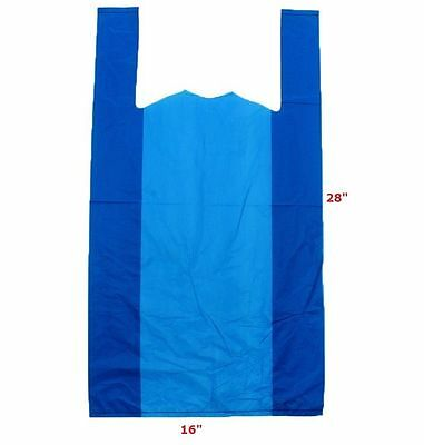 Plastic Carrier Bags Blue 16 X 24 X28  Giant Big Bull 22mu Strong XL Extra Large • 9.95£