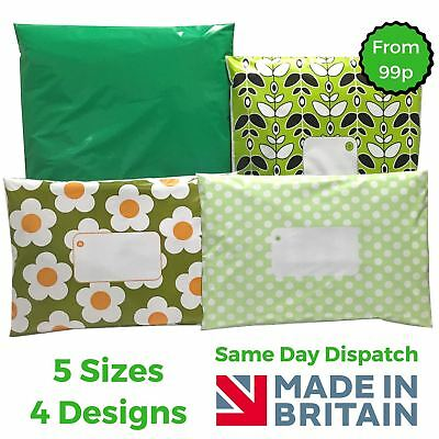£2.98 • Buy GREEN Post Plastic Mailing Bags Packaging Postage Coloured - Polka Dot - Daisy