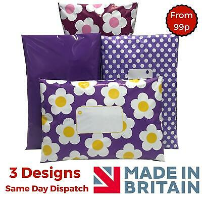 £2.98 • Buy PURPLE Post Poly Plastic Mailing Bags Packaging Postage Coloured Polka Dot Daisy