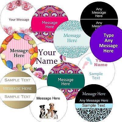 £2.99 • Buy Personalised Labels/stickers Large 63.5mm Circle Business/Company Name Stickers